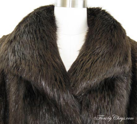 Beaver Coat Collar Close Up image