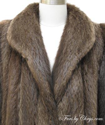 Ankle Length Beaver Fur Coat B732 - Furs by Chrys