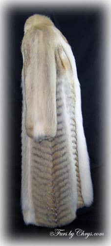 Coyote White Fox Coat Side image