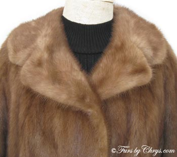 Mahogany Mink Fur Coat MM636 - Furs by Chrys