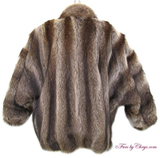 Raccoon Fur Bomber Jacket R701 | Furs by Chrys