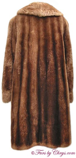 Vintage Sheared Raccoon Fur Coat Back image