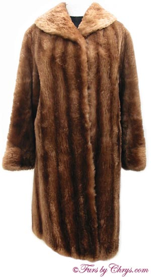 Vintage Sheared Raccoon Fur Coat Front image