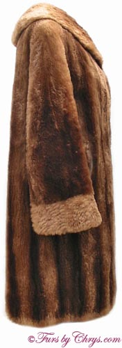 Vintage Sheared Raccoon Fur Coat Side image