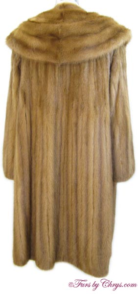 Whiskey Mink Coat Back image