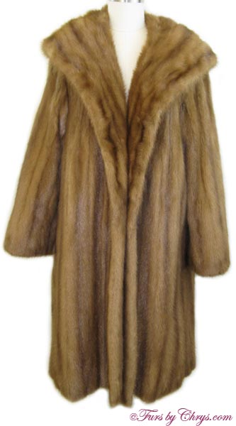 Whiskey Mink Coat Front image