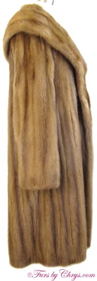 Whiskey Mink Coat Side image